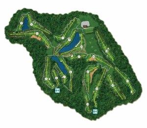 Golfové hřiště - mapa