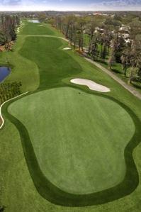 golfový green - jamkoviště
