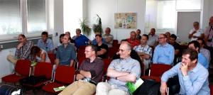 Setkání s konstruktérem sekačky Edwin. Praha 19.6.2014