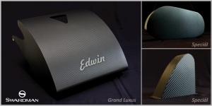 Swardman Edwin carbon set: koš na trávu, kryt motoru, boční kryt.