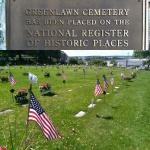 Poklidný hřbitov nedaleko Lynn