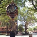 Pouliční hodiny v Columbii