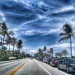 Fort Lauderdale pobřežní cesta na Floridě